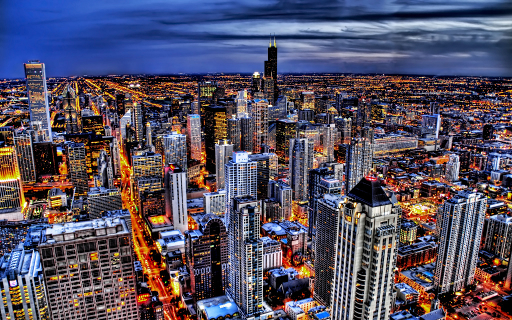 City HDR HD Wallpaper