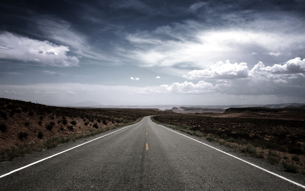 Desert Road HD Wallpaper