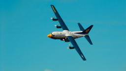 Fat Albert In Flight, Heeia Ahupuaa, Mcbh Kaneohe Bay, HI, US