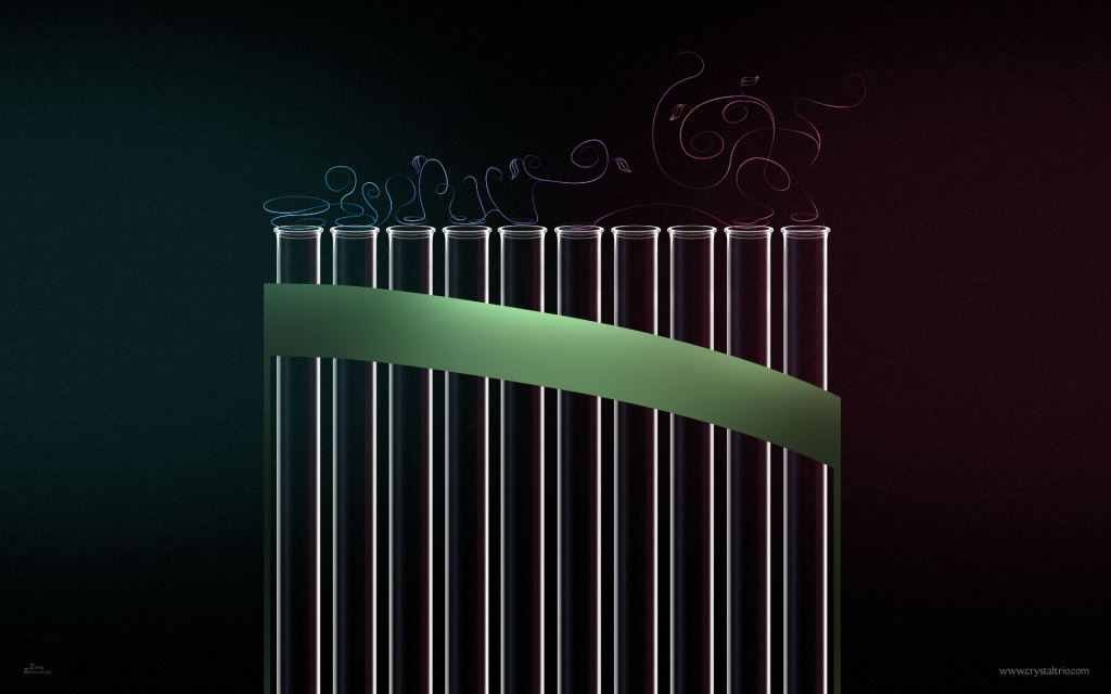 Glass Pan Flute HD Wallpaper