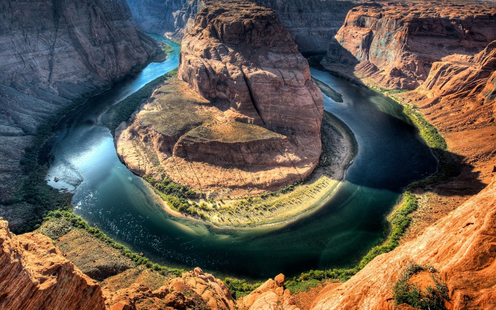 Horseshoe Bend - Colorado River, Arizona HD Wallpaper