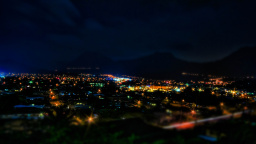 Kaneohe At Night HDR Tilt-Shift