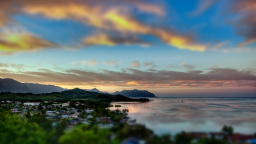 Kaneohe Bay Sunset Tilt-Shift