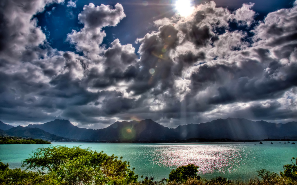 Koolau Mountains And Kaneohe Bay HD Wallpaper