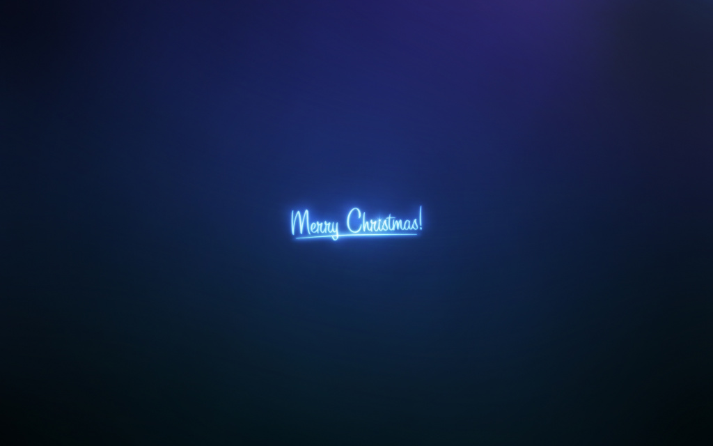 Merry Christmas Blue HD Wallpaper