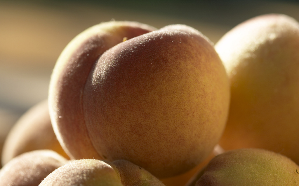 Peaches Macro HD Wallpaper