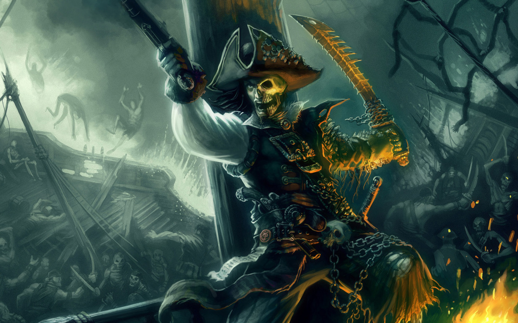 Pirate Artwork HD Wallpaper