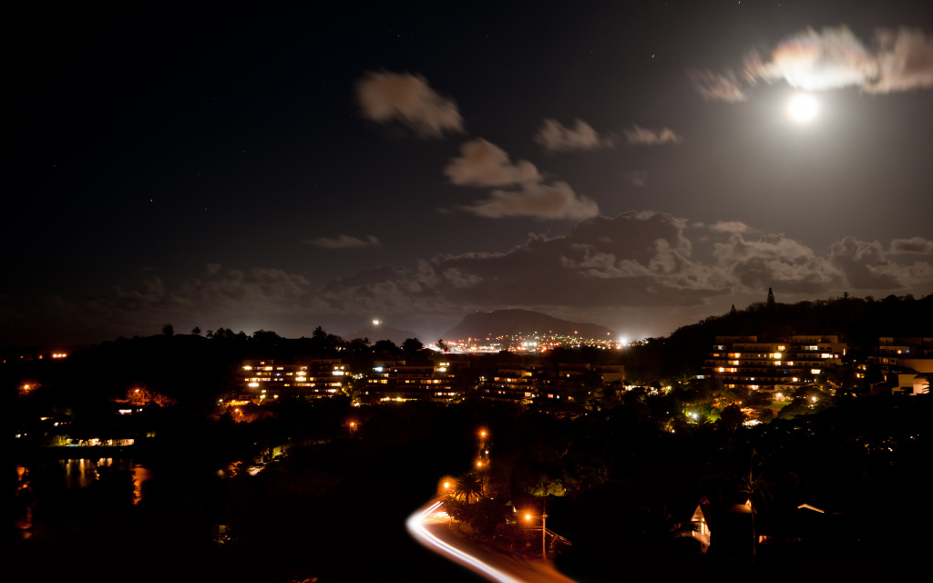 Poha Kea At Night, Kaneohe, Hawaii, US HD Wallpaper