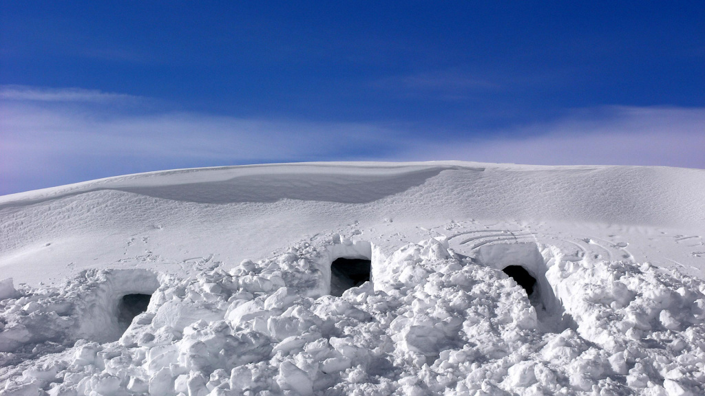 Snow Caves HD Wallpaper