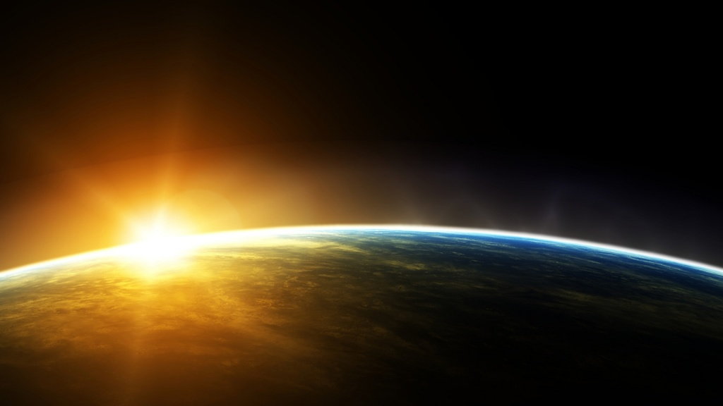 Sunrise From Space HD Wallpaper