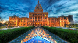 The State Capitol of Texas at Dusk, United States