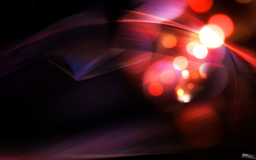 Abstract Red Bokeh HD Wallpaper