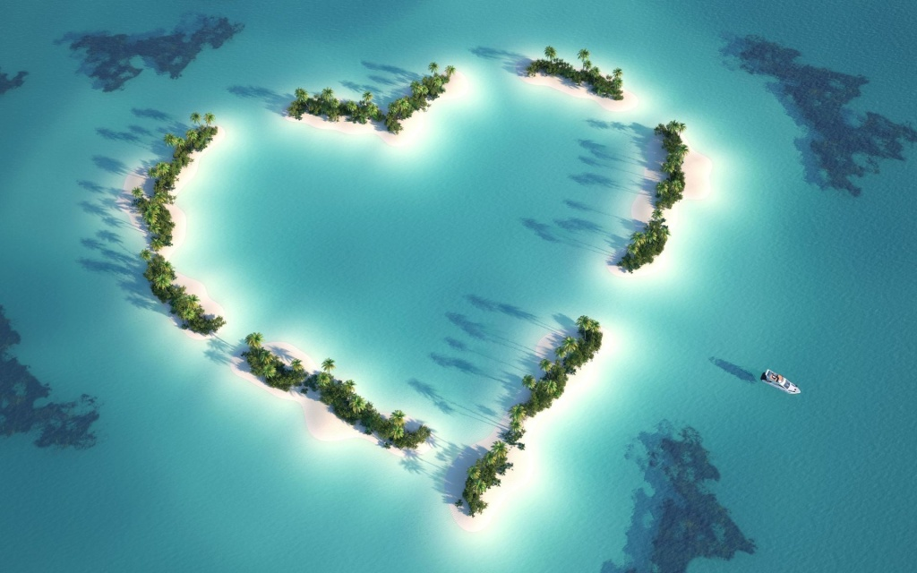 Heart Archipelago HD Wallpaper