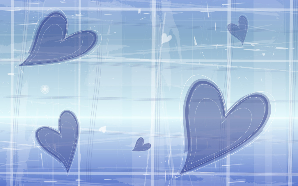 Indigo Hearts HD Wallpaper