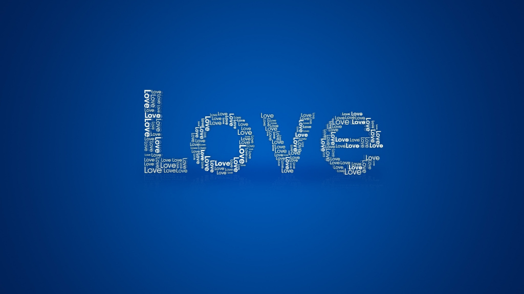 Love Blue Background HD Wallpaper