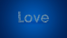 Love Blue Background