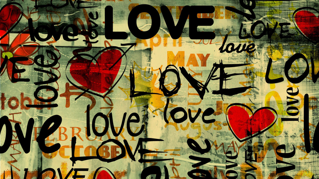 Love Written In Graffiti HD Wallpaper