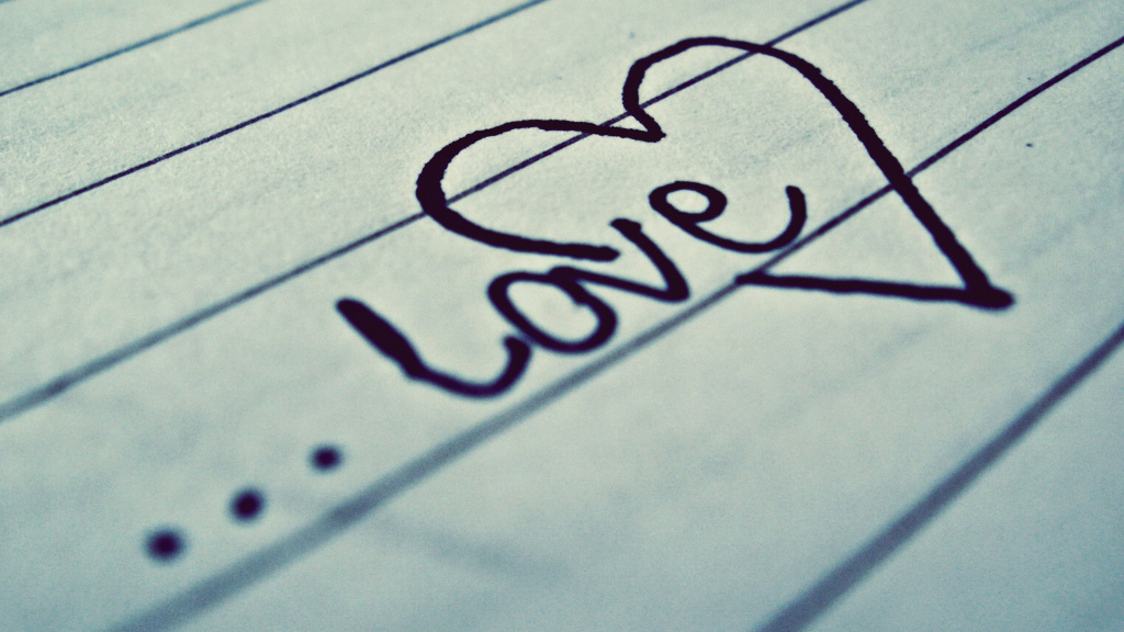 Love Written On Paper HD Wallpaper