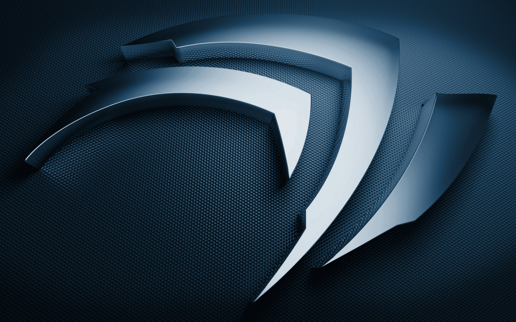 nVidia Logo Blue HD Wallpaper
