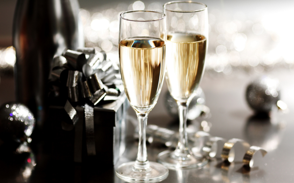 New Year's Eve Champagne 2012 HD Wallpaper
