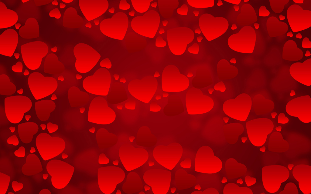Valentine Hearts Background HD Wallpaper