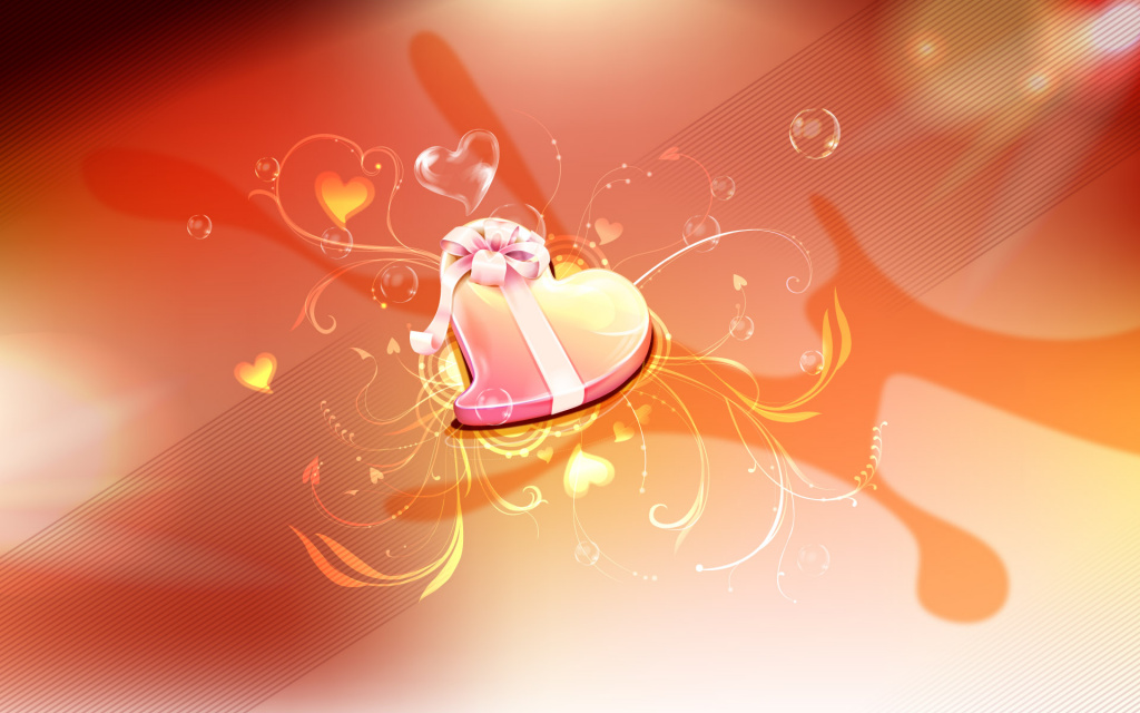 Valentine's Day Candy Box HD Wallpaper