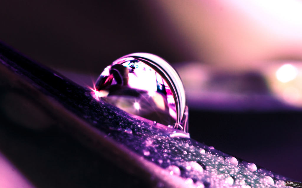 Water Drop Reflection HD Wallpaper